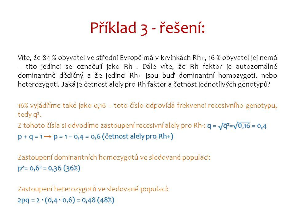 Příklad 3 - řešení: