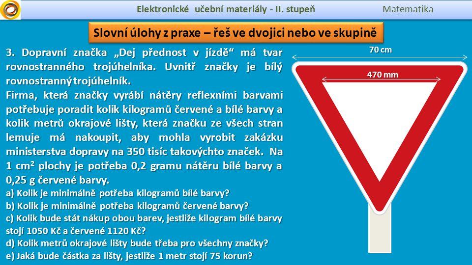 circumference Elektronické učební materiály - II.