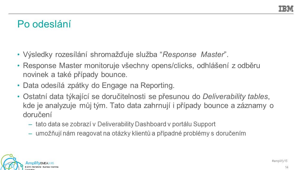 """Výsledky rozesílání shromažďuje služba """"Response Master"""". Response Master monitoruje všechny opens/clicks, odhlášení z odběru novinek a také případy b"""