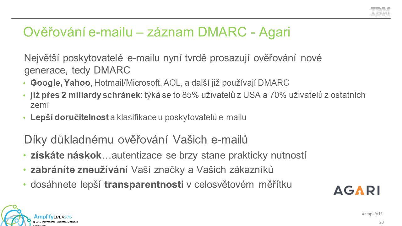 Největší poskytovatelé e-mailu nyní tvrdě prosazují ověřování nové generace, tedy DMARC Google, Yahoo, Hotmail/Microsoft, AOL, a další již používají D