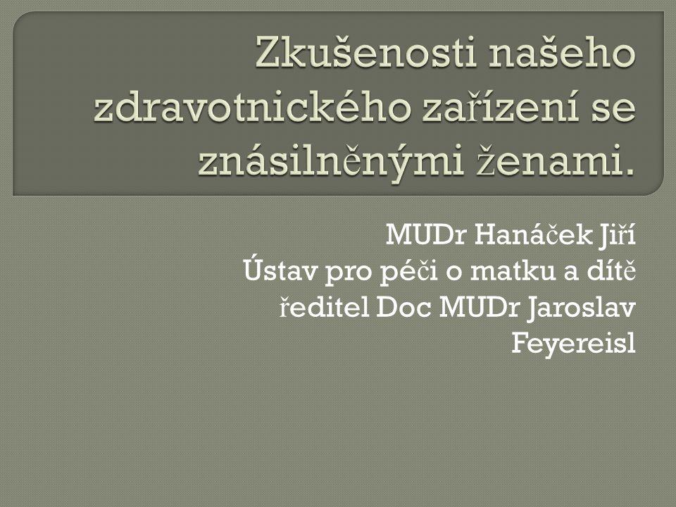 MUDr Haná č ek Ji ř í Ústav pro pé č i o matku a dít ě ř editel Doc MUDr Jaroslav Feyereisl