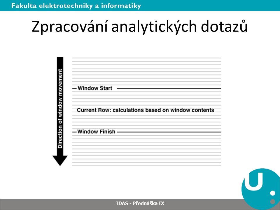 Zpracování analytických dotazů IDAS - Přednáška IX
