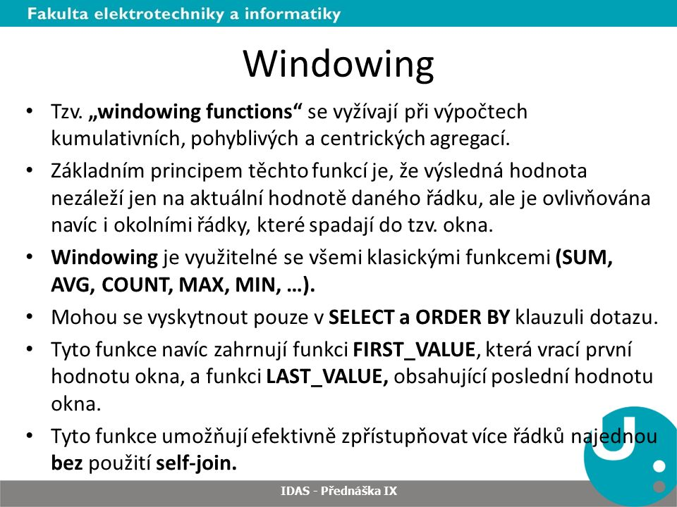 Windowing Tzv.