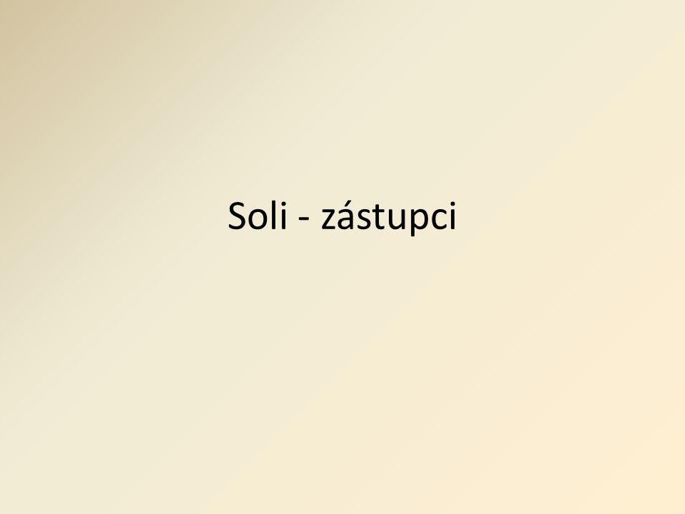 Soli - zástupci