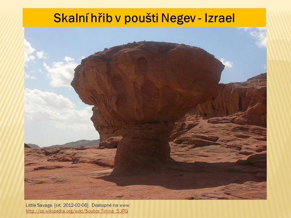 Little Savage. [cit. 2012-02-06]. Dostupné na www: http://cs.wikipedia.org/wiki/Soubor:Timna_5.JPG Skalní hřib v poušti Negev - Izrael