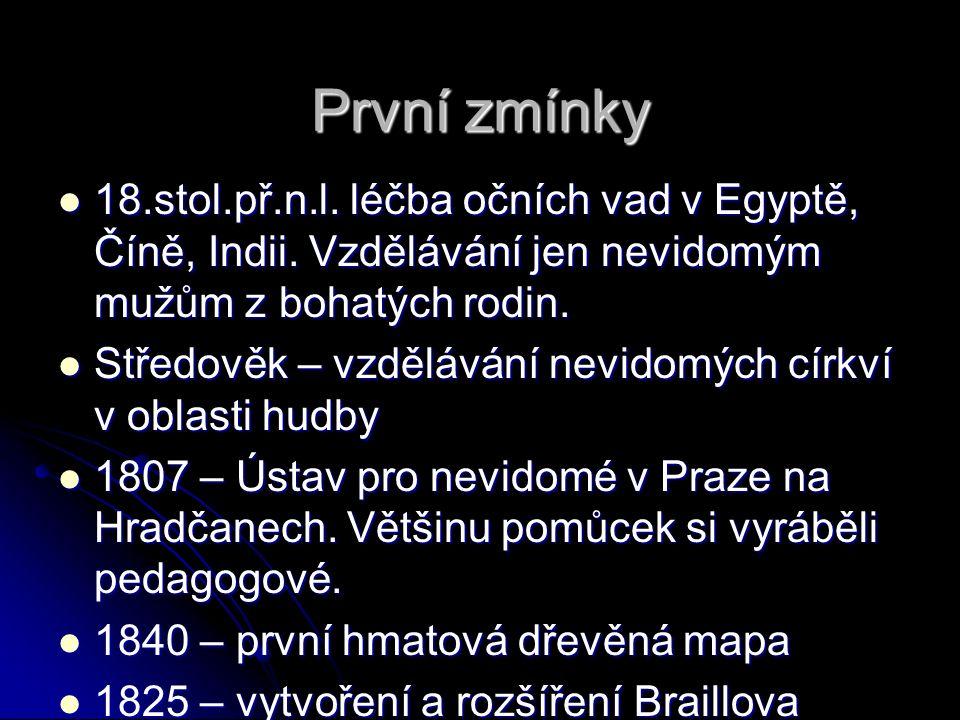 """Ústavy a zařízení pro """"postižené 1776 Praze založen ústav pro hluchoněmé 1776 Praze založen ústav pro hluchoněmé 1841 byl založen """"Spolek pro blaho nuzných dívek v Praze, """"Spolek paní sv."""