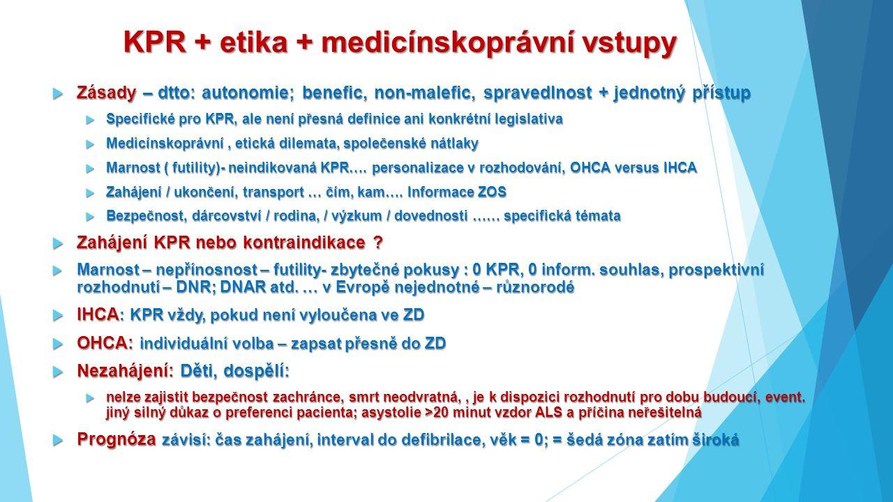 KPR + etika + medicínskoprávní vstupy  Zásady – dtto: autonomie; benefic, non-malefic, spravedlnost + jednotný přístup  Specifické pro KPR, ale není