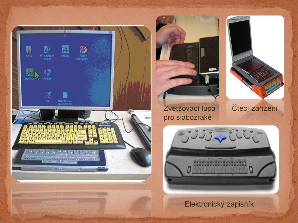 Čtecí zařízeníZvětšovací lupa pro slabozraké Elektronický zápisník