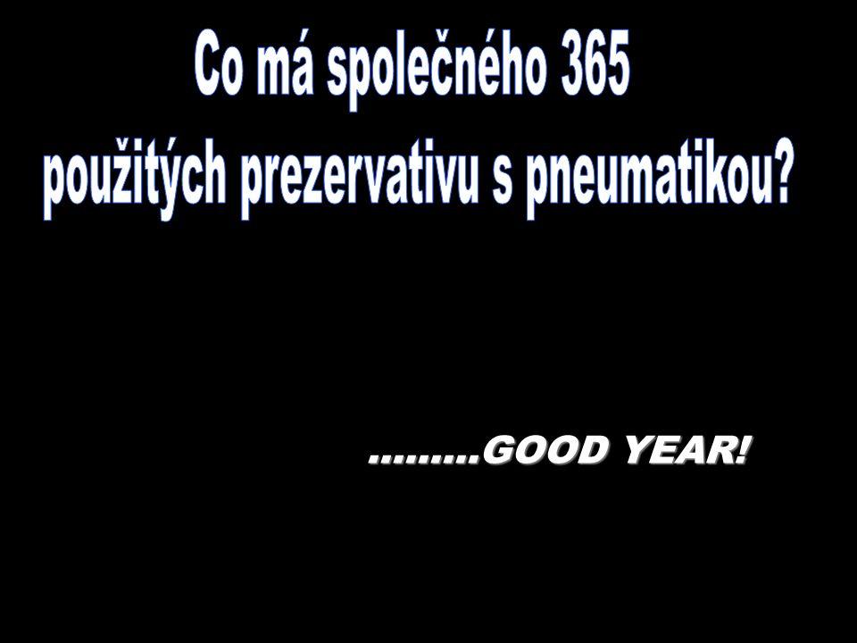 .........GOOD YEAR!