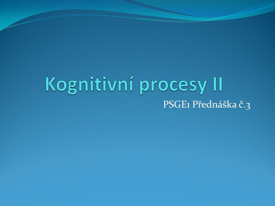 PSGE1 Přednáška č.3