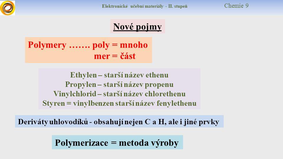 Elektronické učební materiály - II.stupeň Chemie 9 Názvosloví a vzorce: např.
