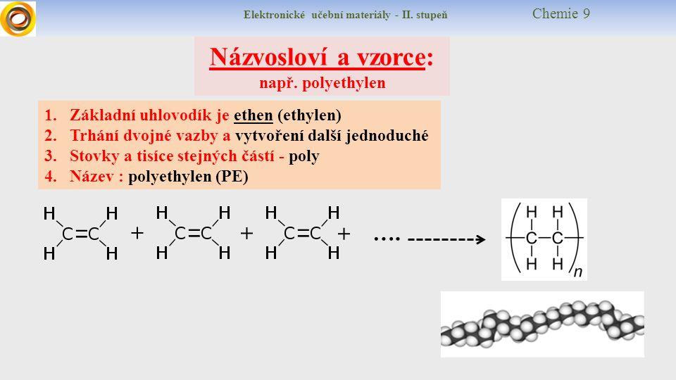 Elektronické učební materiály - II. stupeň Chemie 9 Názvosloví a vzorce: např.