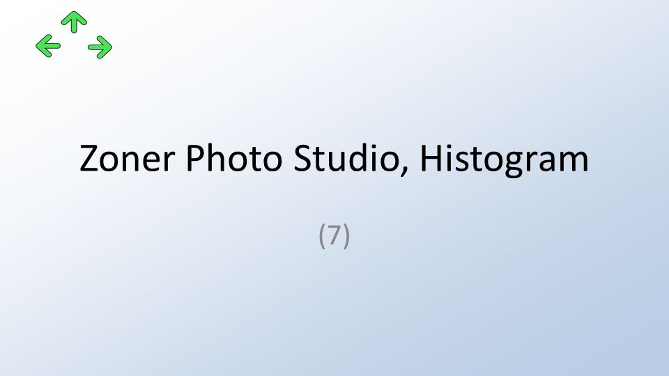 Zoner Photo Studio, Histogram (7)