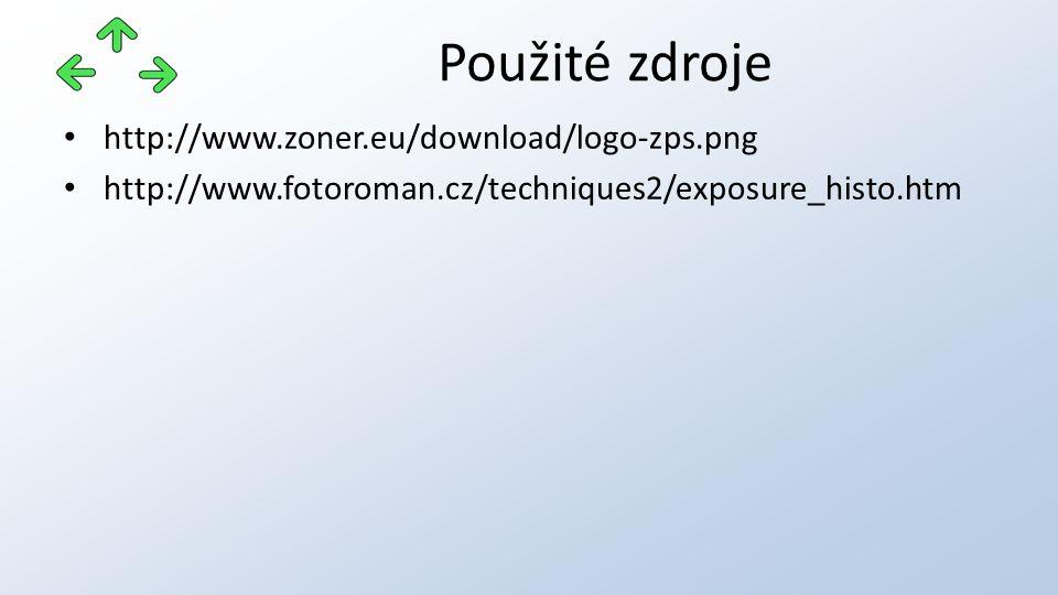 http://www.zoner.eu/download/logo-zps.png http://www.fotoroman.cz/techniques2/exposure_histo.htm Použité zdroje