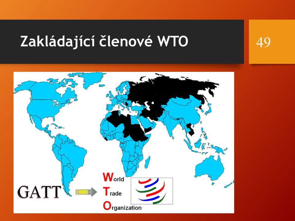 Zakládající členové WTO 49