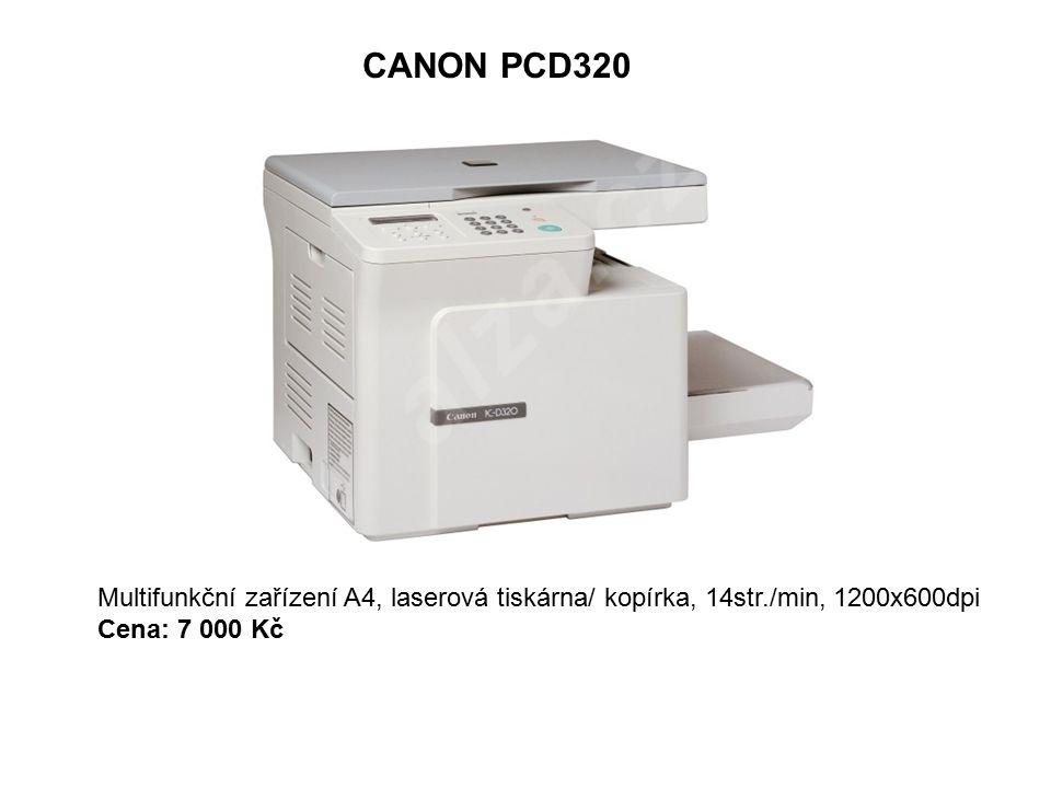 CANON PCD320 Multifunkční zařízení A4, laserová tiskárna/ kopírka, 14str./min, 1200x600dpi Cena: 7 000 Kč