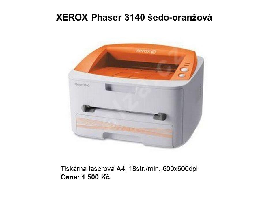 XEROX Phaser 3140 šedo-oranžová Tiskárna laserová A4, 18str./min, 600x600dpi Cena: 1 500 Kč