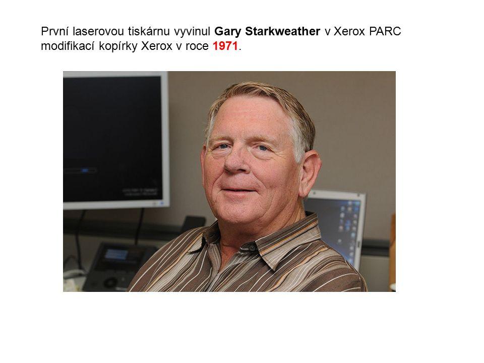 První laserovou tiskárnu vyvinul Gary Starkweather v Xerox PARC modifikací kopírky Xerox v roce 1971.