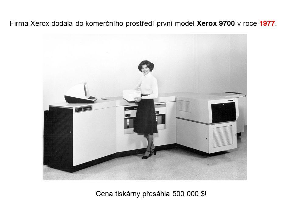 Firma Xerox dodala do komerčního prostředí první model Xerox 9700 v roce 1977.