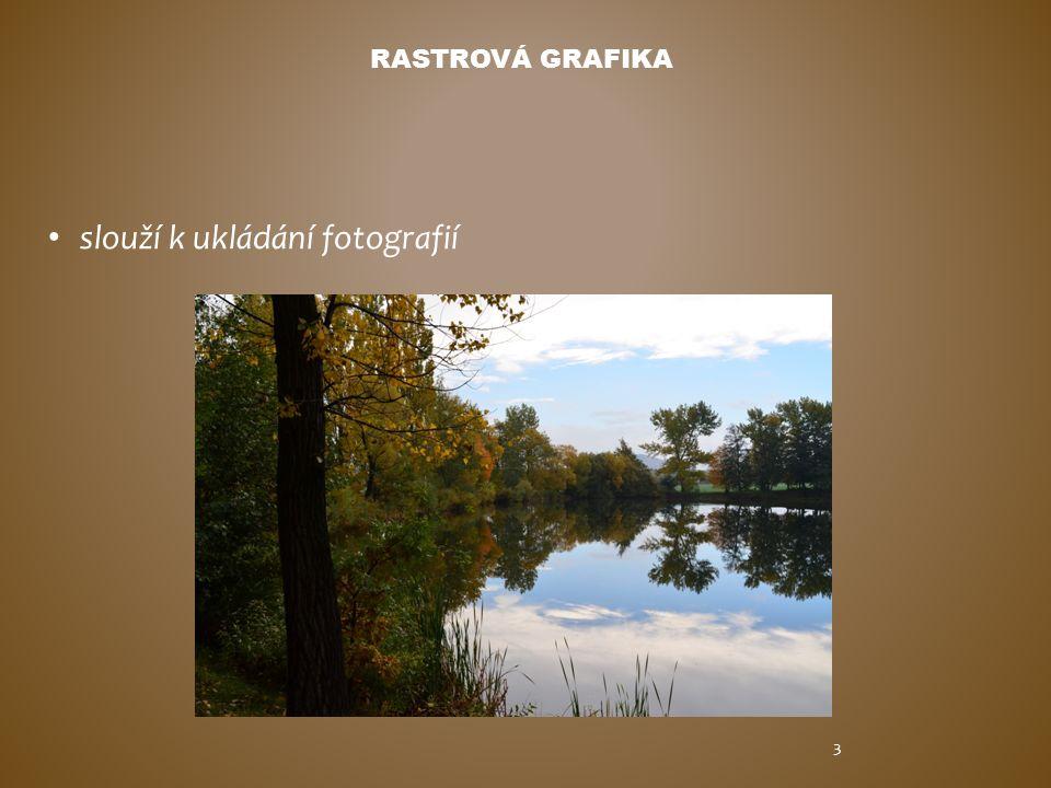 RASTROVÁ GRAFIKA slouží k ukládání fotografií 3