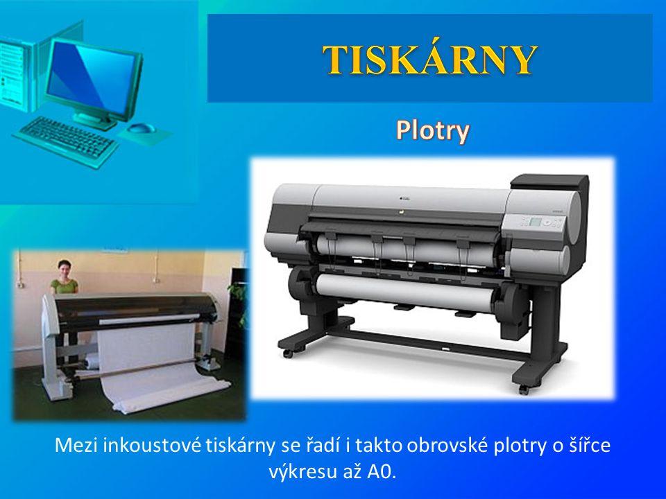 Mezi inkoustové tiskárny se řadí i takto obrovské plotry o šířce výkresu až A0.