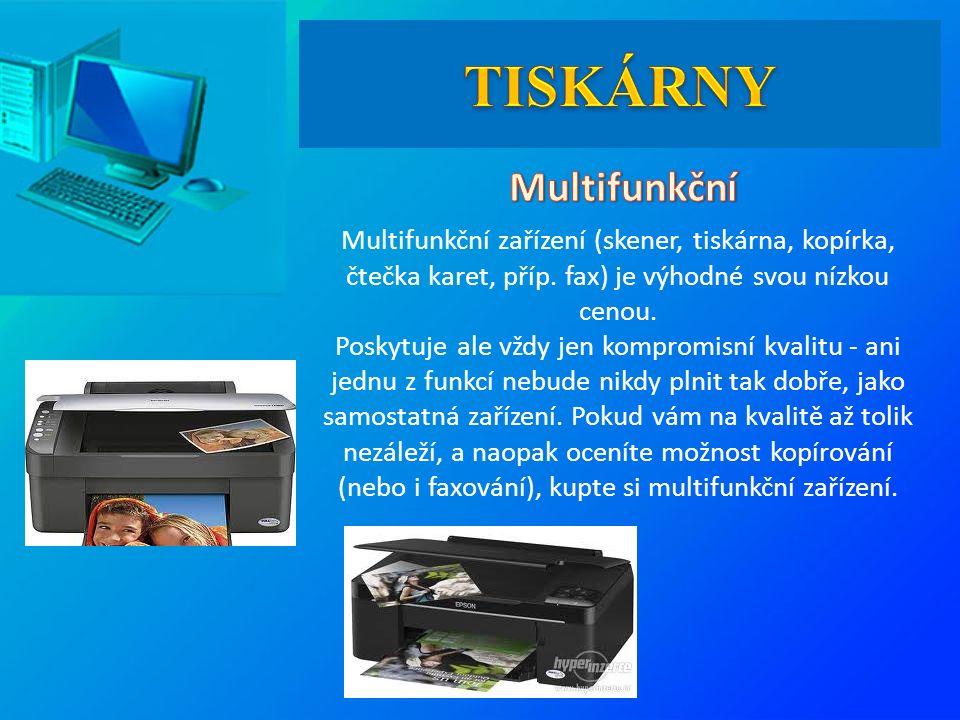 Multifunkční zařízení (skener, tiskárna, kopírka, čtečka karet, příp.