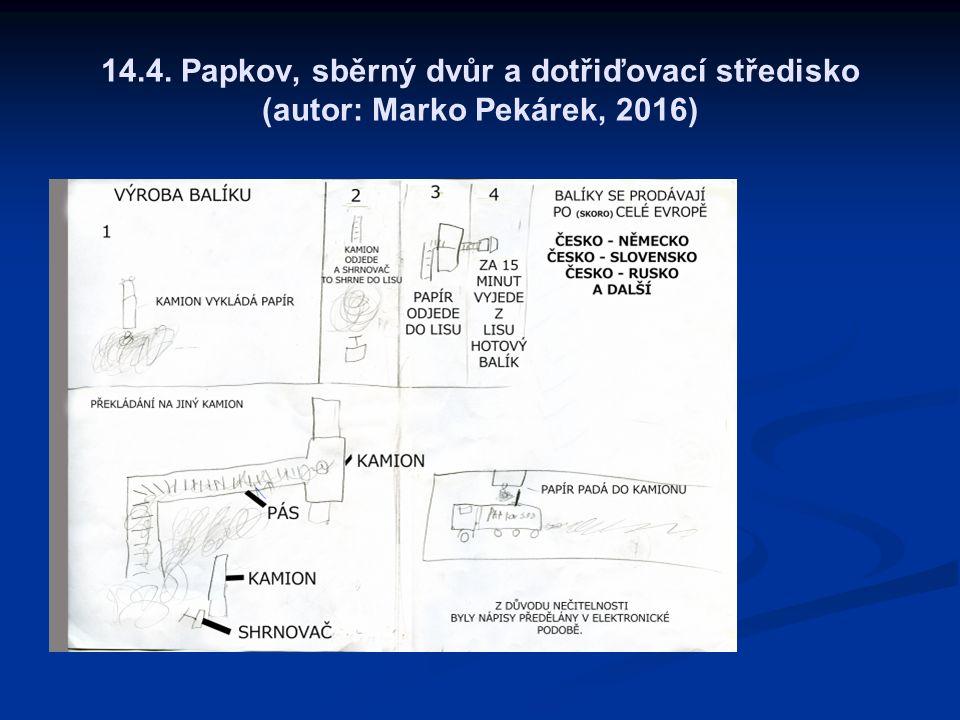 14.4. Papkov, sběrný dvůr a dotřiďovací středisko (autor: Marko Pekárek, 2016)