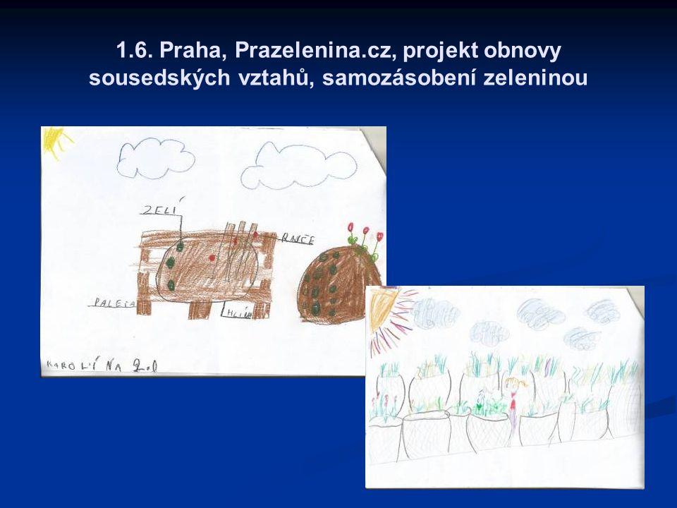1.6. Praha, Prazelenina.cz, projekt obnovy sousedských vztahů, samozásobení zeleninou