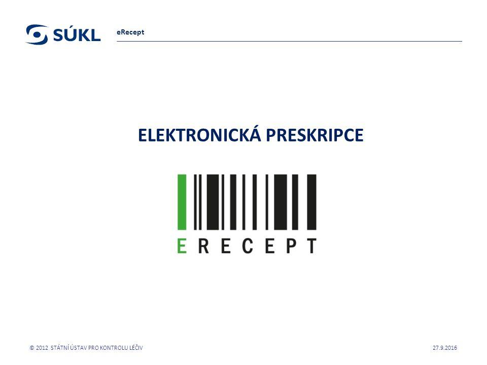 ELEKTRONICKÁ PRESKRIPCE PharmDr.