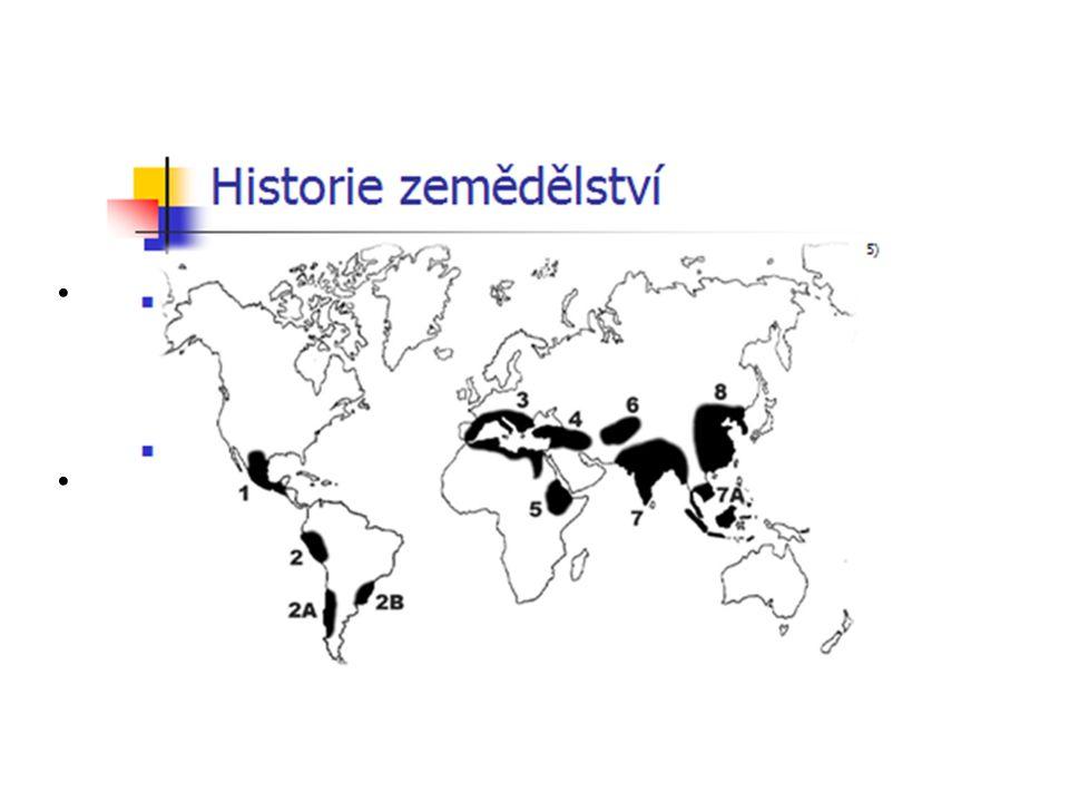 3) Středomoří (hlavně východní oblast) pšenice, oves, řepka olejná, datle, kmín, česnek, šalvěj, levandule, chmel 5) Etiopie (vys.