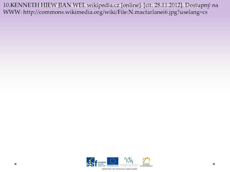 Gymnázium a Jazyková škola s právem státní jazykové zkoušky Svitavy 10.KENNETH HIEW JIAN WEI. wikipedia.cz [online]. [cit. 28.11.2012]. Dostupný na WW