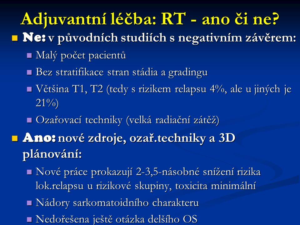 Adjuvantní léčba: RT - ano či ne.
