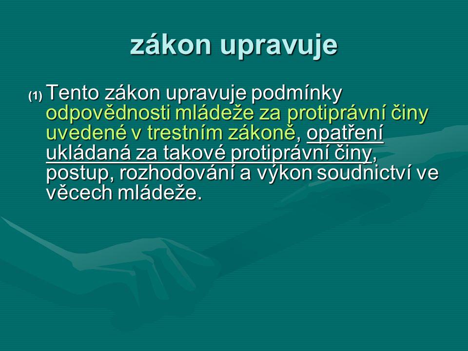 § 23 PŘEMĚNA ÚSTAVNÍ A OCHRANNÉ VÝCHOVY (1) Jestliže převýchova mladistvého pokročila do té míry, že lze očekávat, že i bez omezení, kterým je podroben během výkonu ochranné výchovy, se bude řádně chovat a pracovat, avšak dosud nepominuly všechny okolnosti, pro něž byla ochranná výchova uložena, může soud ochrannou výchovu přeměnit v ústavní výchovu, nebo může rozhodnout o podmíněném umístění mladistvého mimo takové výchovné zařízení.