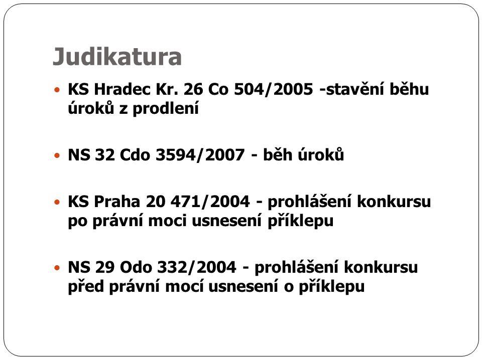 Judikatura KS Hradec Kr.