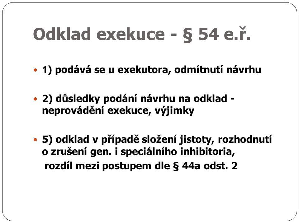 Odklad exekuce - § 54 e.ř.