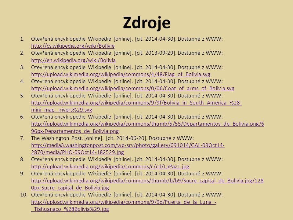 1.Otevřená encyklopedie Wikipedie [online]. [cit.