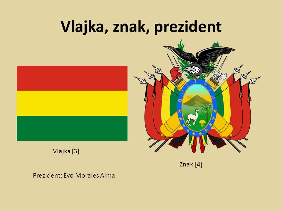 Vlajka, znak, prezident Prezident: Evo Morales Aima Vlajka [3] Znak [4]