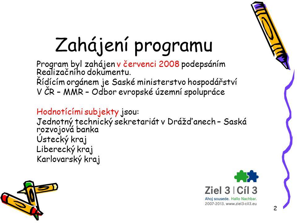 2 Zahájení programu Program byl zahájen v červenci 2008 podepsáním Realizačního dokumentu.