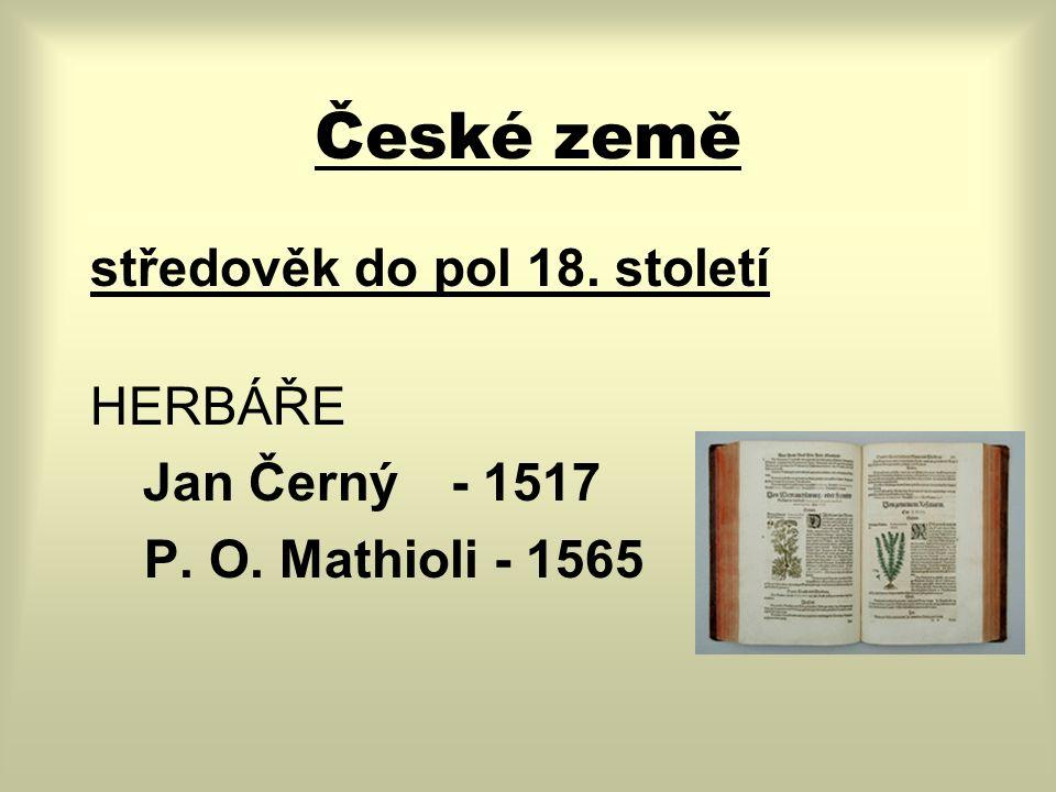 České země pol.18. století Čechy: Praha, Česká Lípa, Ústí n.