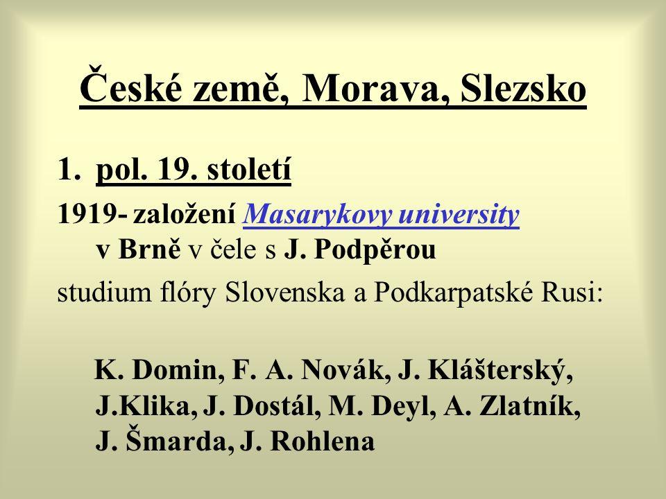 České země, Morava, Slezsko 1.pol. 19.