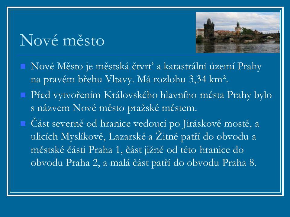 Nové město Nové Město je městská čtvrť a katastrální území Prahy na pravém břehu Vltavy.