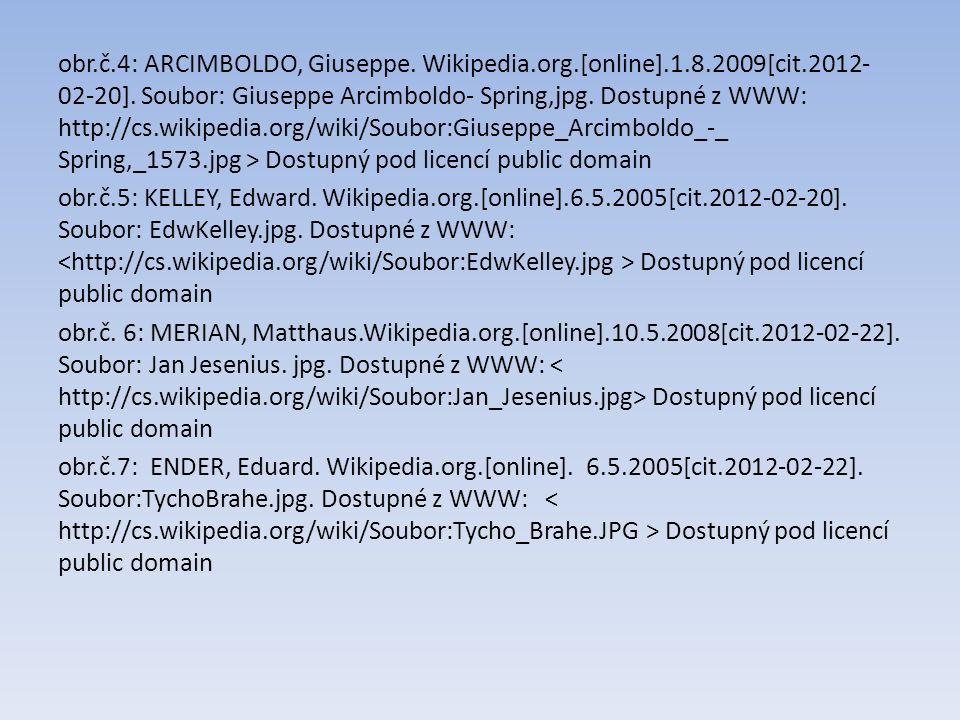obr.č.4: ARCIMBOLDO, Giuseppe. Wikipedia.org.[online].1.8.2009[cit.2012- 02-20]. Soubor: Giuseppe Arcimboldo- Spring,jpg. Dostupné z WWW: http://cs.wi