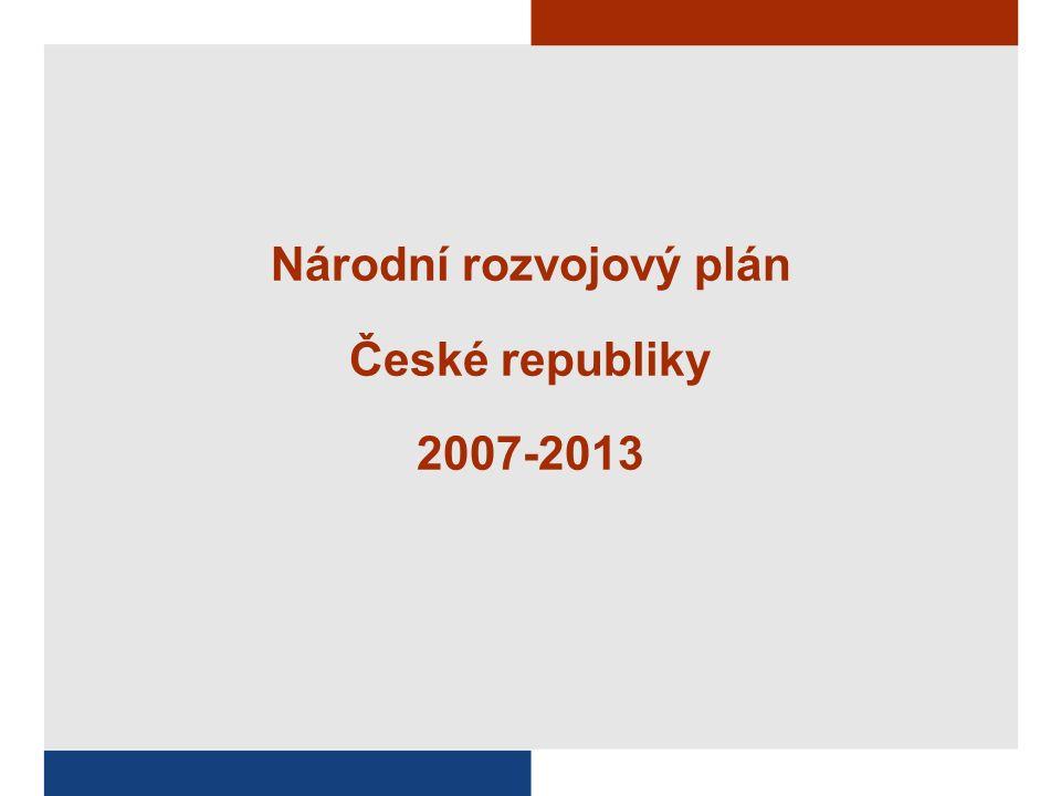 Národní rozvojový plán České republiky 2007-2013