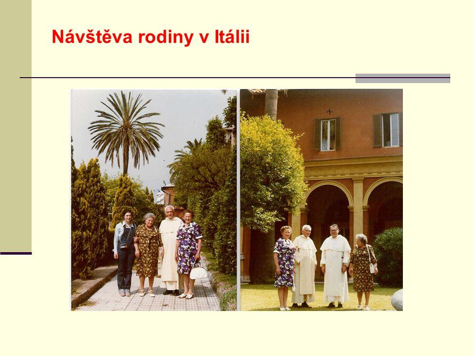 Návštěva rodiny v Itálii