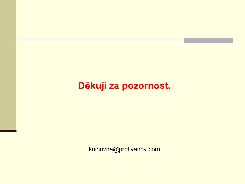 Děkuji za pozornost. knihovna@protivanov.com