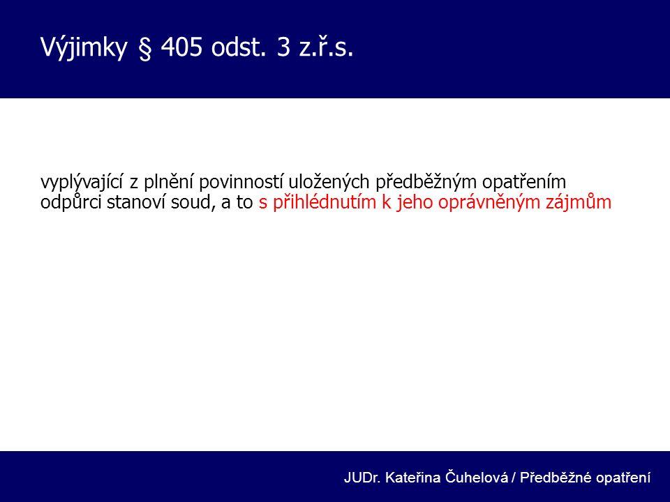 Doba trvání, vykonatelnost § 407, 408 z.ř.s.