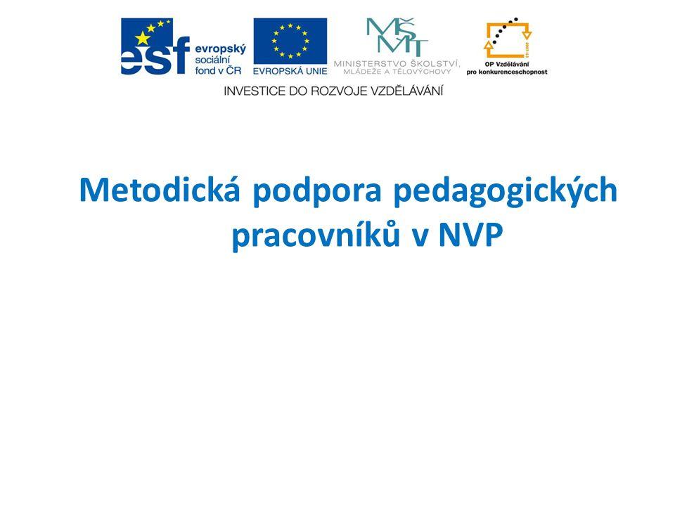 Metodická podpora pedagogických pracovníků v NVP