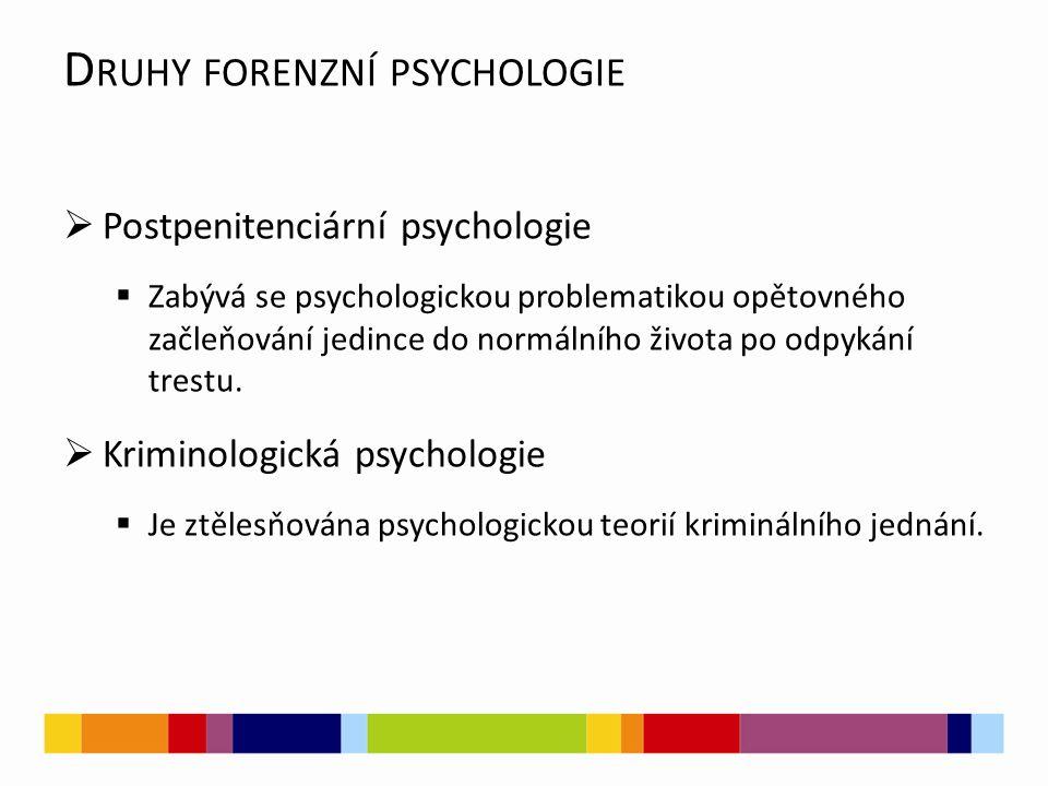 M ETODY FORENZNÍ PSYCHOLOGIE Teoretické výzkumné postupy:  Analýza  Syntéza  Abstrakce  Srovnání
