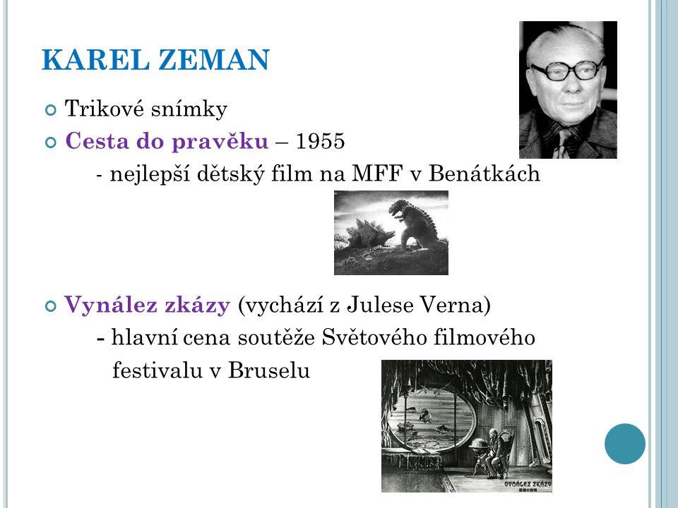 JIŘÍ TRNKA Loutkové filmy Cirkus Hurvínek Staré pověsti české Bajaja
