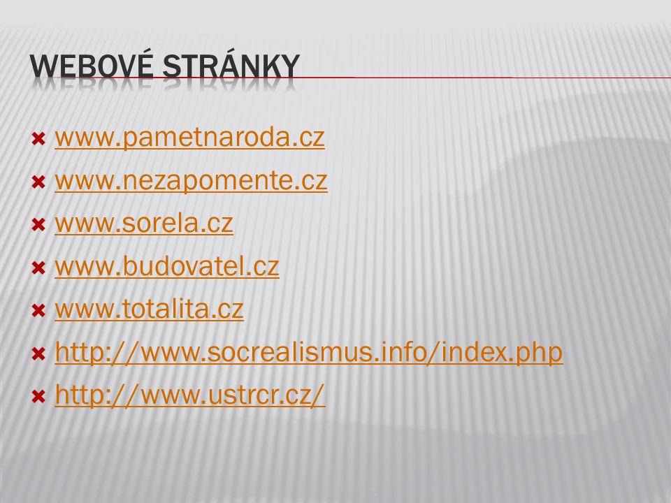  www.pametnaroda.cz www.pametnaroda.cz  www.nezapomente.cz www.nezapomente.cz  www.sorela.cz www.sorela.cz  www.budovatel.cz www.budovatel.cz  ww